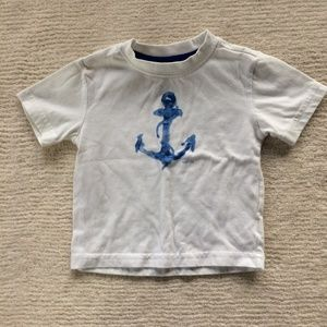 Nautica Baby Boy White Blue Anchor Tee T-shirt